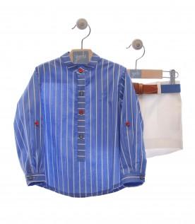 Conjunto blusa e calções